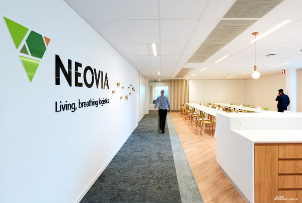 Neovia new offices cafeteria