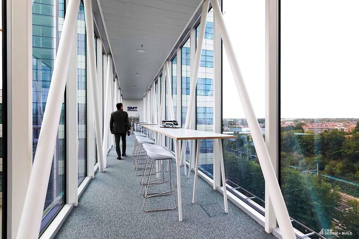 SMT new offices corridor